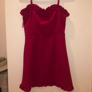 FRENCH CONNECTION PINK almost red DRESS NWOT